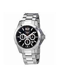 Longines Conquest Automatic Chronograph Black Dial Men's Watch L38014566