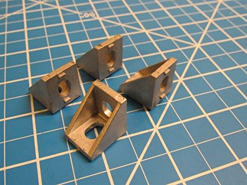 70pcs 2020 Corner Bracket Aluminum Size 20x20x17mm for T Slot Aluminum Extrusion CNC 3D - Angle Aluminum 20