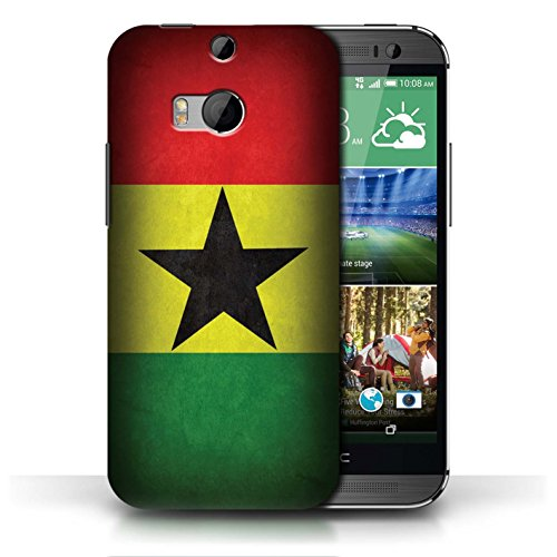 Etui / Coque pour HTC One/1 M8 / Ghana conception / Collection de Drapeau