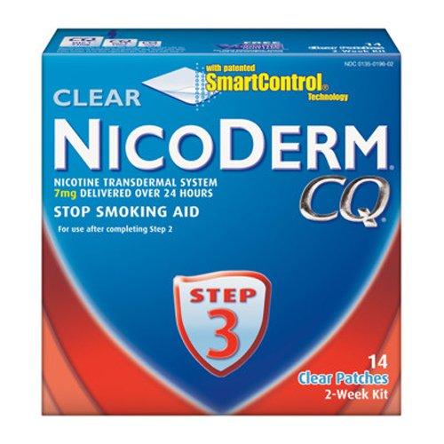 Nicoderm CQ Smoking Cessation Patch with 7mg 14 ct Step 3