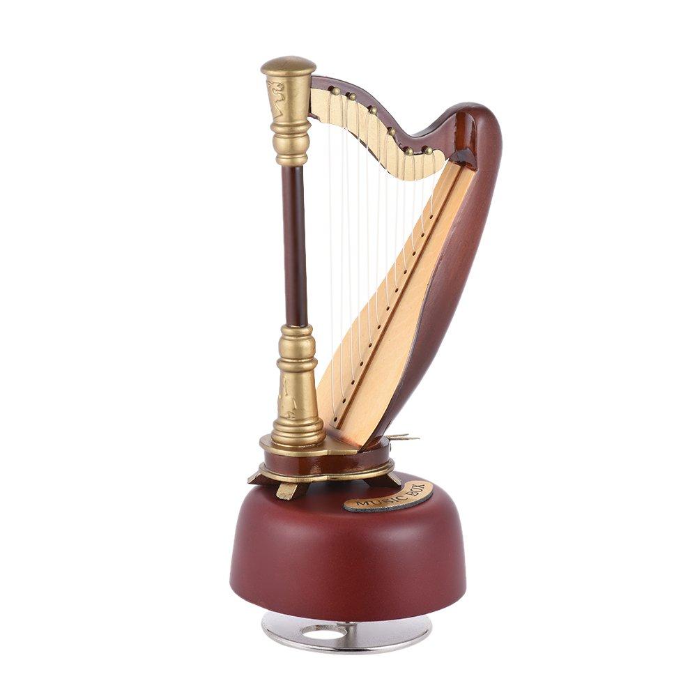ammoon Classica Chiudere Arpa Carillon Violino con Miniature Replica Artware Regalo Strumento Rotante Base Musicale