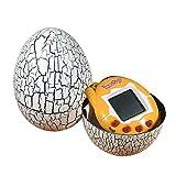 KASST Dinosaur Egg Virtual Pets on a Keychain Digital Pet Electronic Game (White)