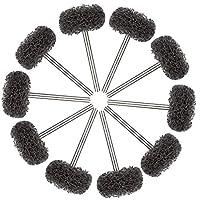SODIAL 25mm Black Abrasive Buffing Polishing Wheels Burr For Proxxon Dremel Rotary Tools Shank 50 Pcs
