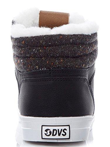 Zapatilla de Caña Alta Para Mujer DVS Equinox Negro Grainy-Multi Knit