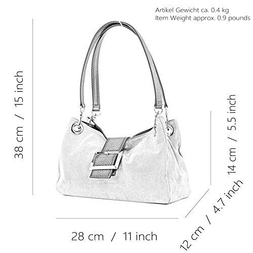 en tout main Petit TL02 Satchel Mesdames suède ital sac sac Stone cuir à fourre w84nZqR