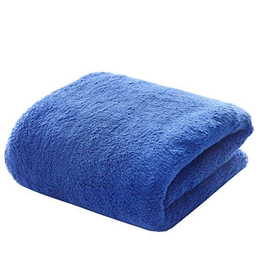 Coral Fleece Microfiber Bath Towel 27.5×55 Inch Super Absorbent Thick Home Bath Towel Swimming Blue Towel
