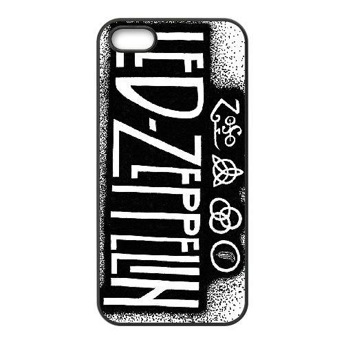 Led Zeppelin 003 coque iPhone 5 5S cellulaire cas coque de téléphone cas téléphone cellulaire noir couvercle EOKXLLNCD25478