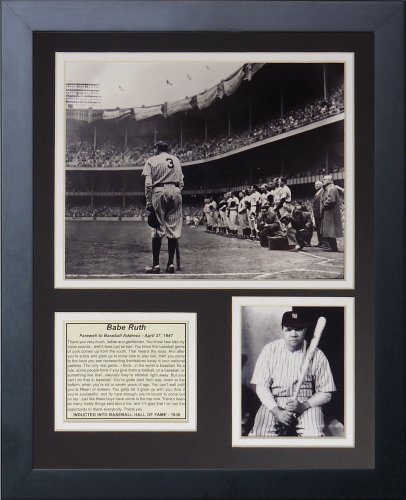 - Legends Never Die Babe Ruth Farewell Framed Photo Collage, 11x14-Inch