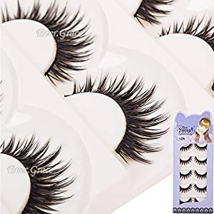 5 Pairs Long Thick Makeup False Eyelashes Fake Eye Lash Extension Handmade Soft