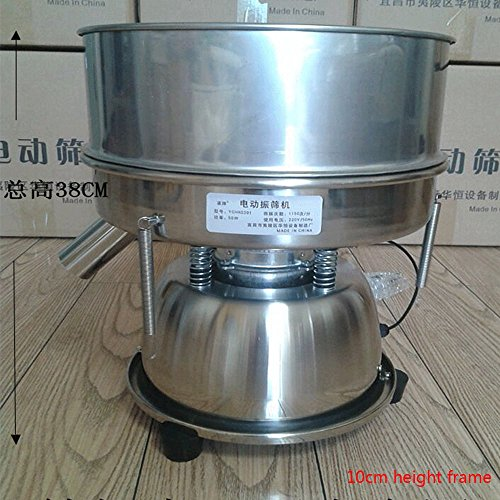 Electric Chinese Medicine Sieve Stainless Steel Powder Vibrating Sieve Machine (110V USA plug) by JYNselling (Image #2)