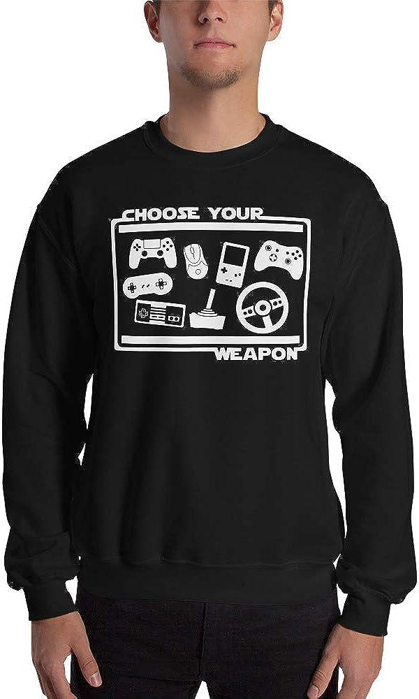 Choose Your Weapon Video Game Gamer Geek Funny Unisex Sweatshirt