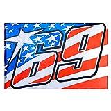 Nicky Hayden 69 Moto GP Flag USA Logo Official 2018