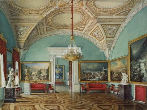 [Oil Painting 'Hau Edward Petrovich,Interiors Of The Winter Palace,The Second Room Of The War Gallery,1807-1887' 20 x 27 inch / 51 x 68 cm , on High Definition HD canvas prints, Bed Room, Gym,] (China National Costume Name)