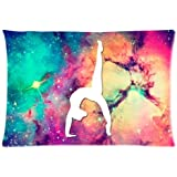 "Gymnastic Galaxy Rectangle Zippered Pillowcase 20"" x 30"" (Twin sides)"