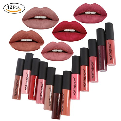 Lipstick set 12Pcs Matte Liquid Lipstick Madly Waterproof Long Lasting Matte Liquid Lipstick Beauty Lip