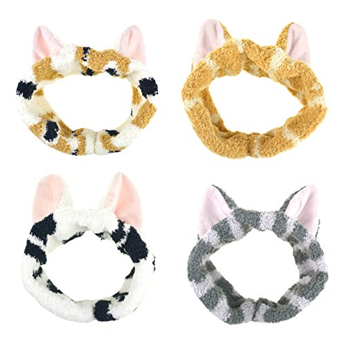 Price comparison product image DRESHOW Spa Facial Headbands Terry Cloth Towels Headbands Cute Cat Ear Hairband Women Wash Face Makeup Mask Headbands