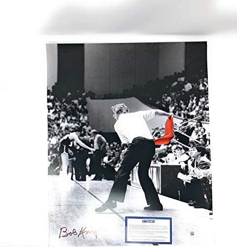 Bob Knight IU Indiana Hoosiers Signed Autograph 16x20 Photo Red Chair Throw Limited Edition Steiner Sports Certified (Steiner Photo 16x20 Frame)