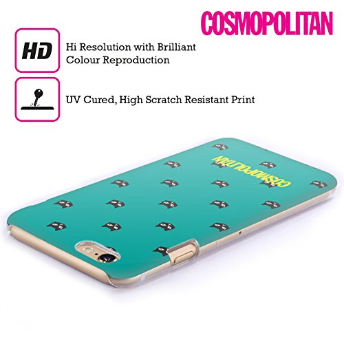Official Cosmopolitan Teal Lovey The Cat Hard Back Case for Apple iPhone 4 / 4S