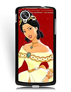 Google Nexus 5 Funda Case, Pocahontas Cartoon Google Nexus 5 Funda Case Anti Slip Case Cover