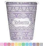 RNK Shops Baby Elephant Waste Basket - Single Sided (White) (Personalized)