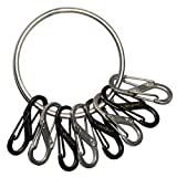 Nite Ize BigRing Steel, 2' Stainless Steel Key Chain Ring With 8 Stainless Steel Key-Holding S-Biners