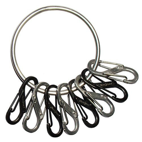 - BigRing Key Ring with S-Biners, To Identify, Sort and Store Keys, Stainless Steel, Holds 8+ S-Biners (Sport Key Ring Keychain)