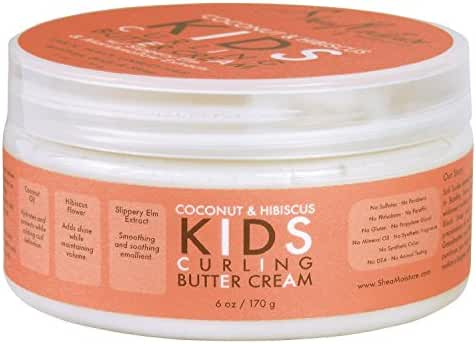 Shea Moisture Curling Butter Creme, Coconut & Hibiscus, 6 Ounce