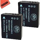 BM Premium 2-Pack of CGA-S007 Batteries for Panasonic DMC-TZ1 DMC-TZ2 DMC-TZ3 DMC-TZ4 DMC-TZ5 DMC-TZ11 DMC-TZ15 DMC-TZ50 Digital Camera