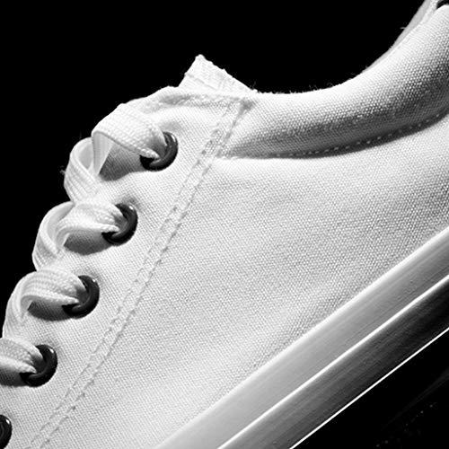 tela Green 35 White da casual color uomo tela di bordo green uomo traspirante di estate Color da selvatici White scarpe scarpe Color Size tendenza scarpe Scarpe q5xBSwg