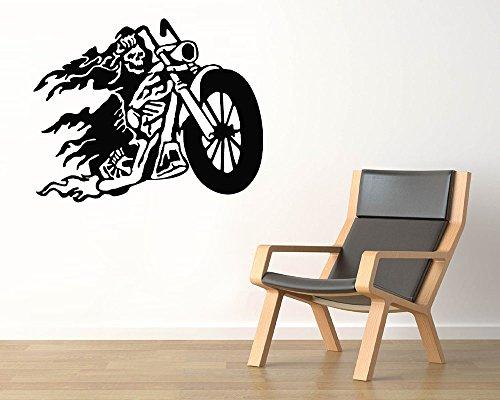 Ghost Rider Vinyl Wall Decals Halloween Horror Decal Sticker Vinyl Murals Decors IL0551 (Ghost Rider Vinyl Adult)