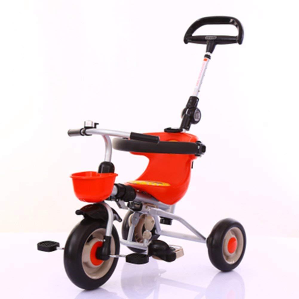 CSPMM Dreirad Kinder Fahrrad 1-5 Jahre alt Kinderwagen Trolley Kind Fahrrad Trike Kind 3 Räder