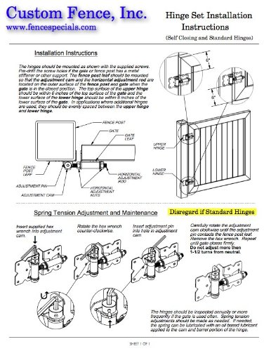 Vinyl Fence Gate Hinges (White Pair) by Custom Fence by Custom Fence (Image #5)