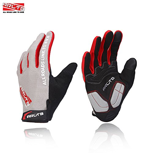 Arltb Winter Bike Gloves 3 Size 3 Colors Bicycle Cycling Biking Gloves Mitts Full Finger Pad Breathable Lightweight for Bike Riding Mountain Bike Motorcycle Free Cycle BMX Lifting Fitness Climbing