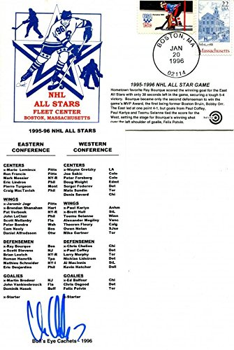 - Chris Chelios Autographed Roster with NHL All Star Game Envelope - NHL Cut Signatures