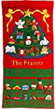 Pockets Of Learning Personalized Fabric Christmas Advent Calendar By