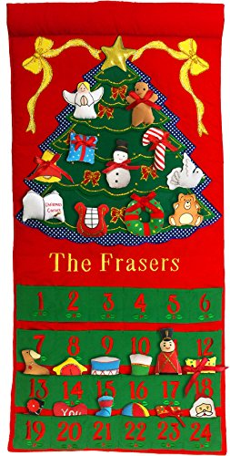 Pockets Of Learning Personalized Fabric Christmas Advent Calendar