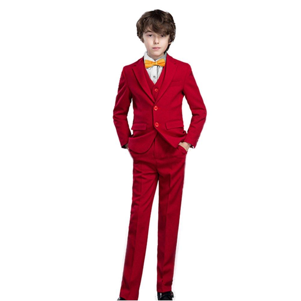 Yanlu Boy's Suits Formal Dress Blazer Vest Pants Shirt and Tie CAMQ115