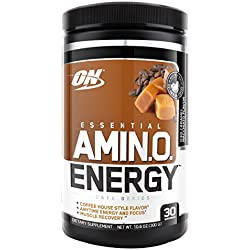 Optimum Nutrition Amino Energy with Green Tea and Green Coffee Extract, Flavor: Iced Caramel Machiatto, 30 Servings