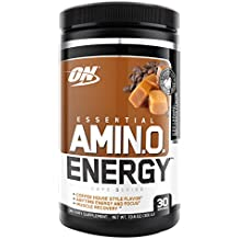 Optimum Nutrition Amino Energy, Iced Caramel Machiatto, Preworkout and Essential Amino Acids with Green Tea and Green Coffee Extract, 30 Servings
