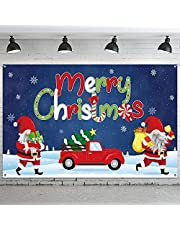 Merry Christmas Banner Decorations Merry Christmas Backdrop Banner Extra Large Christmas Porch Banners Poster Xmas Banner Merry Christmas Photography Banner for Christmas Supplies 72.8 x 43.3 Inch