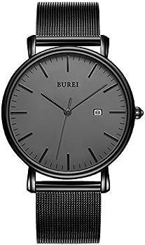 BUREI Men's Fashion Minimalist Wrist Analog Watch