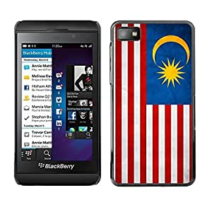 Shell-Star ( National Flag Series-Malaysia ) Snap On Hard Protective Case For BackBerry Z10