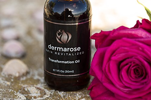Dermarose 100% Organic Oil Serum for Face, Hair, Beard, Skin and Nails - Natural Moisturizer with Organic Coconut, Argan, Safflower, Jojoba and Avocado Oils. 1 oz
