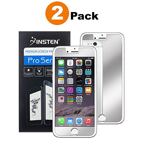 Protector, Insten [2 Pack] Premium Mirror Anti-Scratch LCD Screen Protector Bubble Free HD Film No Rainbow Effect Shield Guard For Apple iPhone 8 / 7 (4.7