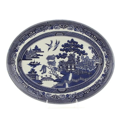 (Blue Willow by Johnson Bros., Earthenware Serving)