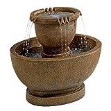 Design Toscano Richardson Oval Urns Cascading Garden Fountain, Large