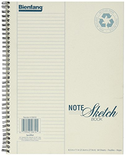 Bienfang Notesketch Paper Pad, Vertical Lined, 64 Sheets, 8.5-Inch by...