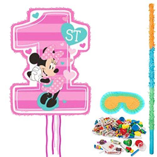 Minnie 1st Birthday Party Supplies Pinata Kit -