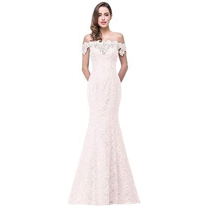 Vestido Formal de Dama de Honor de Noche de Sirena de Encaje Ailin Home (Color