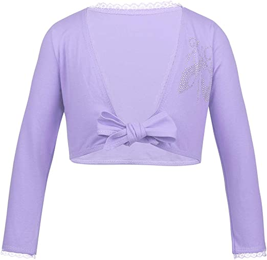 Little Squirrel Kids Girl Dance Sweater Ballerina Long Sleeve Knit Wrap Top Ballet Wrap Top